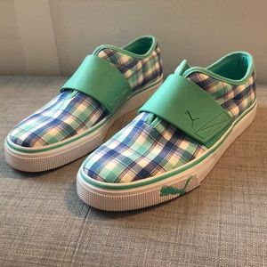Women's Size 8 Puma Plaid Shoes